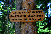 Sign at  Parting of the Waters